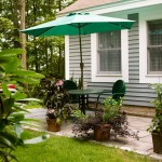 Soak in the air on your patio at Taylor Retirement Community
