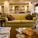 Relax in our library at Taylor Retirement Community